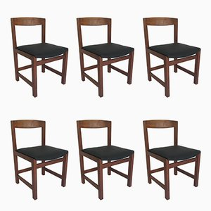 Vintage Teak Chairs, Set of 6