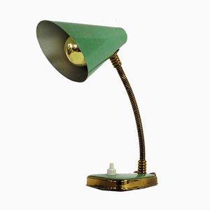 Lámpara de mesa italiana pequeña en verde de Palma Firenze, años 50