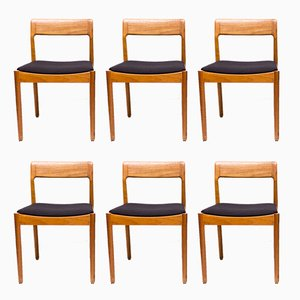 Dänische Esszimmerstühle aus Teak von Nørgaards Møbler, 1960er, 6er Set