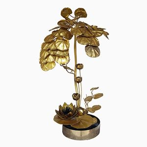 Brass Anemone Floor Lamp from Maison Jansen, 1970s