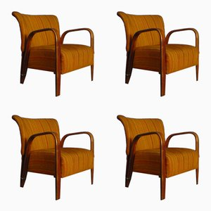 French Armchairs by Hugues Steiner for Steiner Meubles, 1940s, Set of 4
