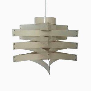 Lámpara de araña blanca de Max Sauze, años 70