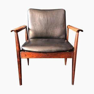 Rosewood Diplomat Armchair by Finn Juhl for France & Daverkosen, 1960s