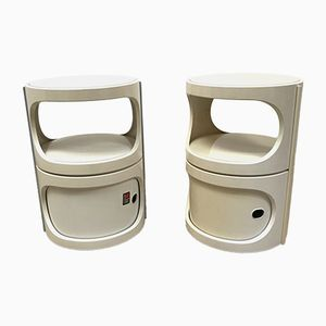 Vintage Space Age Plastic Bedside Tables from Flair, 1970s, Set of 2