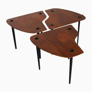 French Patroy Free-Form Tripod Nesting Tables by Pierre Cruege, 1950s
