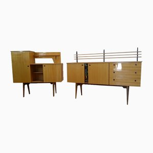 Vintage Sideboards, 1960s, Set of 2