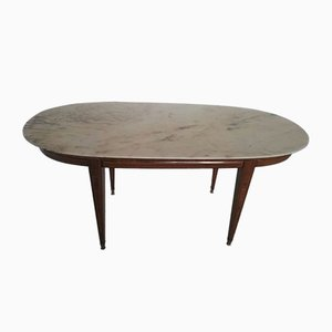 Impero Dining Table in Wood and Marble, 1900s