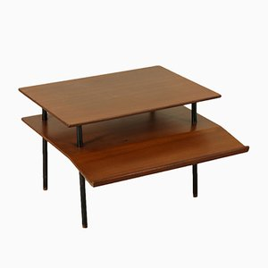 Mid-Century Italian Coffee Table in Mahogany Veneer