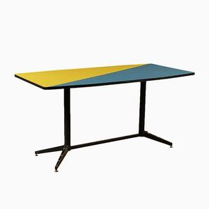 Italienischer Mid-Century Tisch aus Formica & lackiertem Metall Table