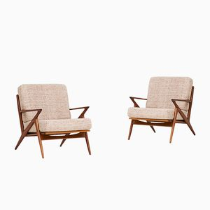 Model Z Armchairs by Poul Jensen for Selig, 1950s, Set of 2