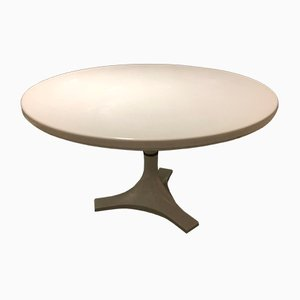4993 Round White Table by Ignazio Gardella & Castelli for Kartell, 1966