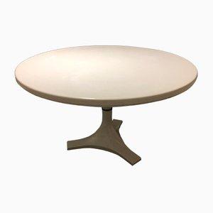 Table 4993 Round Blanc par Ignazio Gardella & Castelli pour Kartell, 1966