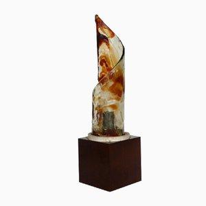 Glas Tischlampe von Mazzega, 1970er
