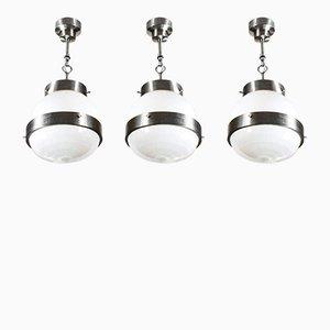 Lanterne Delta di Sergio Mazza per Artemide, anni '60, set di 3