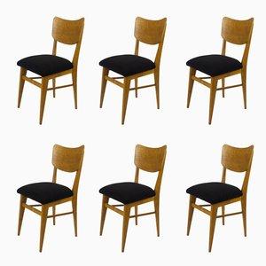 Französische Stühle, 1950er, 6er Set
