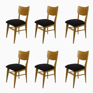 French Chairs, 1950s, Set of 6