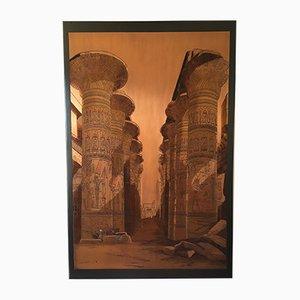 Vintage Isis Tempel Gravur auf Metallteller von El Shami