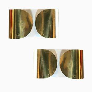 Apliques de pared Foglio de Tobia Scarpa para Flos, 1966. Juego de 2