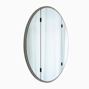 Specchio in tre parti bianco, anni '50