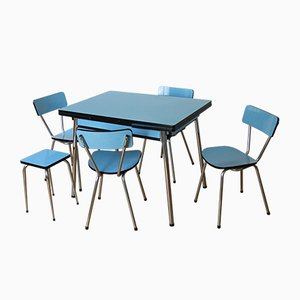 Dining Table, 4 Chairs & Stool, 1950s
