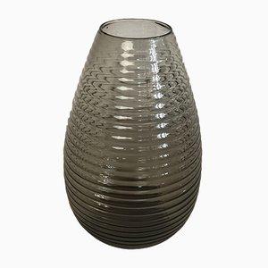 Vaso scanalato di A.D. Copier per Leerdam Glassworks, anni '50