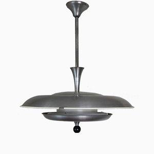 Lámpara de techo era espacial de aluminio de Niba, años 60