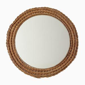 Vintage Round Rattan Mirror