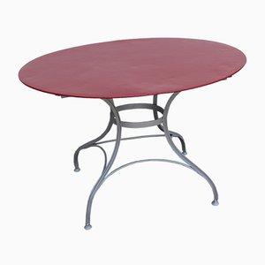 Tavolo da giardino Art Nouveau ovale, anni '20