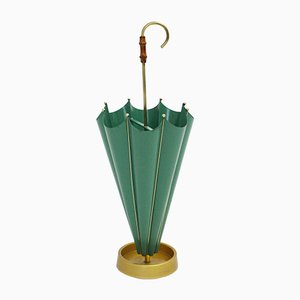 Italian Green Umbrella Stand, 1950s