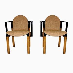 Deutsche Vintage Armlehnstühle von Gerd Lange für Thonet, 2er Set