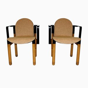 Vintage German Armchairs by Gerd Lange for Thonet, Set of 2