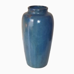 Grand Vase Art Déco en Cristal de Pierrefonds, France, 1930s