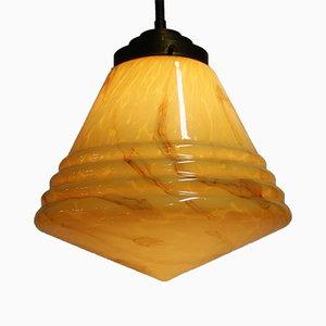 Lámpara colgante cónica de mármol, años 30