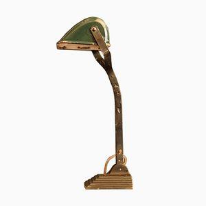 Art Deco Banker's Lamp in Dark Green from Horax