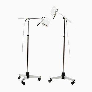 Lámparas de pie médicas Mid-Century. Juego de 2
