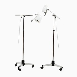 Mid-Century Medical Floor Lamps, Set of 2