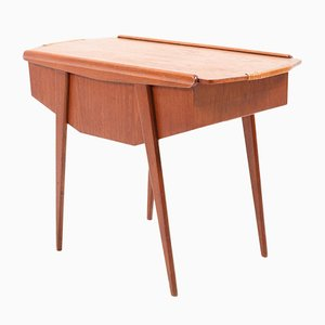 Mid-Century Danish Teak Sewing Table