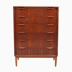 Mid-Century Danish Teak & Oak Chest of Drawers