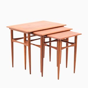 Mid-Century Danish Nesting Tables in Teak