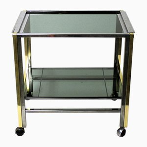 Vintage Brass & Chrome Two Tier Bar Trolley, 1970s