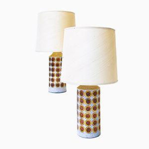 Lampade da tavolo vintage di Aldo Londi per Bitossi, set di 2