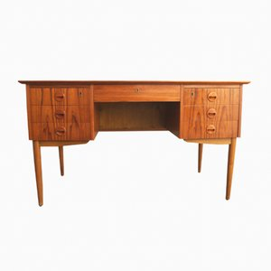 Vintage Danish Desk in Teak with Drawers