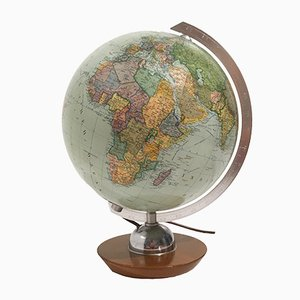 Mid-Century Illuminated Glass Globe from JRO Verlag