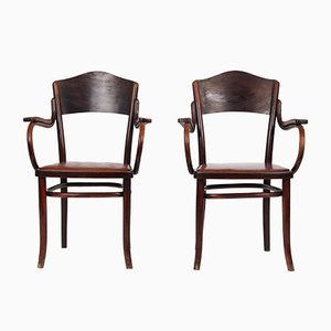 Antique Armchairs from Thonet, Set of 2