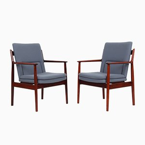 Vintage Model 431 Rosewood Armchairs by Arne Vodder for Sibast, Set of 2