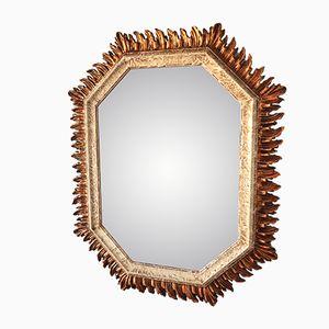Mid-Century Octagonal Sunburst Mirror