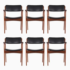 Vintage Model 49 Rosewood Armchairs by Erik Buch for O.D. Møbler, Set of 6