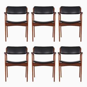 Vintage Modell 49 Chairs aus Palisander von Erik Buch für O.D. Møbler, 6er Set