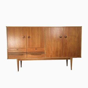 Mid-Century Model M115 Teak Highboard, 1960s