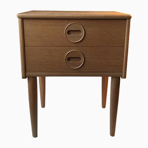 Mid-Century Danish Oak Veneered Nightstand, 1970s